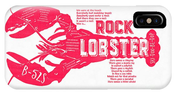 Catfish iPhone Case - B-52s Rock Lobster Lyric Poster by Edward Fielding