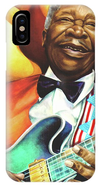 B. B. King Phone Case by Marcella Muhammad
