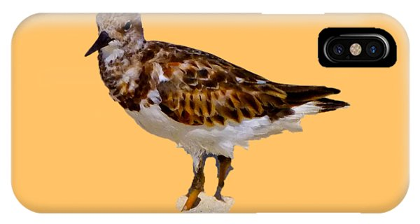 IPhone Case featuring the digital art B Bird by Francesca Mackenney