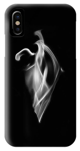 B/w Flame 7092 IPhone Case