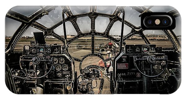 IPhone Case featuring the photograph B29 Superfortress Fifi Cockpit View by Chris Lord