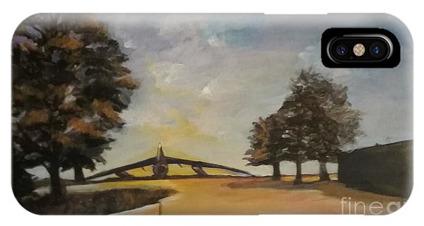 IPhone Case featuring the painting B52 by Saundra Johnson