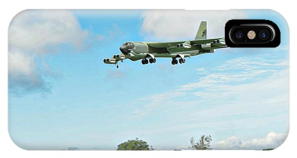 IPhone Case featuring the digital art B52 Stratofortress -2 by Paul Gulliver