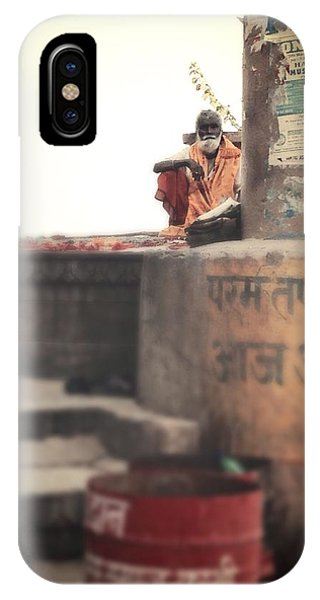Baba At The Ghats IPhone Case