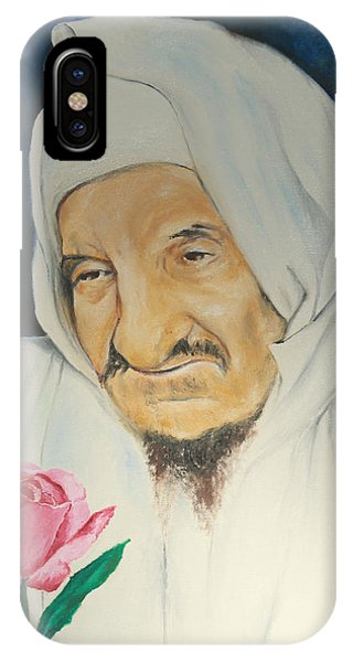 Baba Sali With Rose IPhone Case