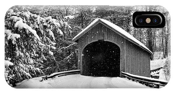 Covered Bridge iPhone Case - Babbs Bridge by Dan Jordan