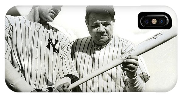 Babe Ruth iPhone Case - Babe Ruth And Lou Gehrig by Jon Neidert