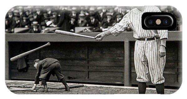 Babe Ruth At Bat IPhone Case