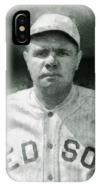 Babe Ruth iPhone Case - Babe Ruth, Baseball Player by John Springfield