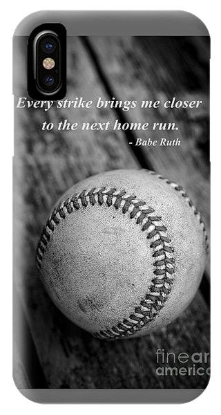 Babe Ruth iPhone Case - Babe Ruth Baseball Quote by Edward Fielding