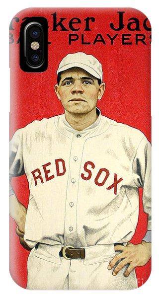Babe Ruth Cracker Jack Card IPhone Case