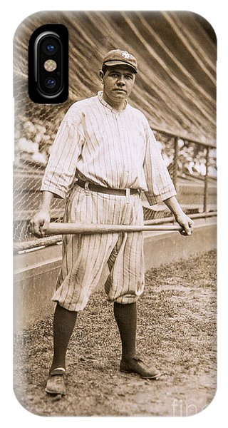 Babe Ruth iPhone Case - Babe Ruth On Deck by Jon Neidert