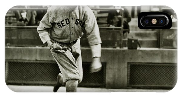 Babe Ruth iPhone Case - Babe Ruth Pitching by Jon Neidert