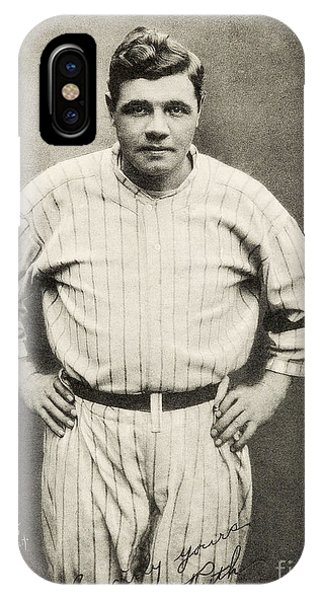 Babe Ruth iPhone Case - Babe Ruth Portrait by Jon Neidert
