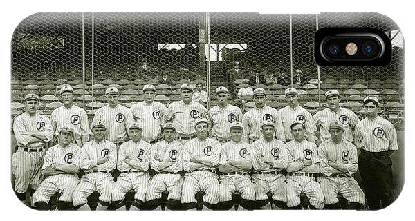 Babe Ruth iPhone Case - Babe Ruth Providence Grays Team Photo by Jon Neidert