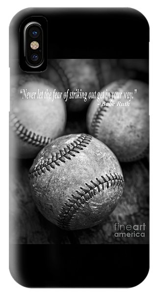 Babe Ruth iPhone Case - Babe Ruth Quote by Edward Fielding