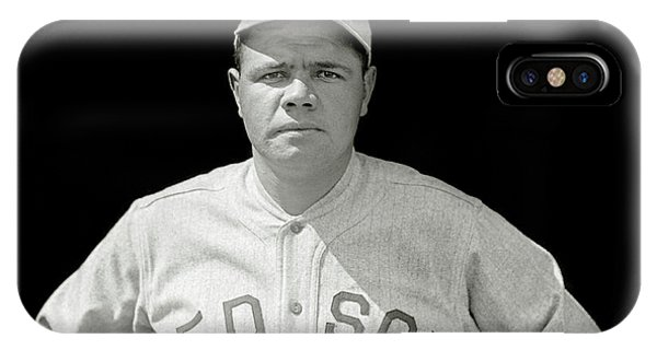 Babe Ruth iPhone Case - Babe Ruth Red Sox by Jon Neidert