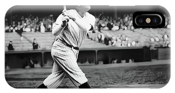 Babe Ruth Swing 62717 IPhone Case