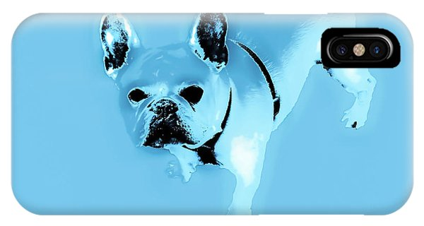 French Bull Dog iPhone Case - Baby Blue Frenchie by Heather Joyce Morrill