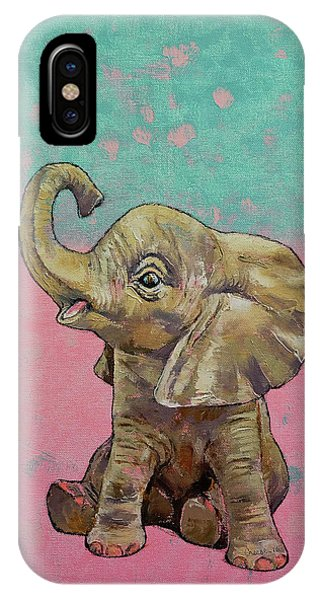 Elephant iPhone Case - Baby Elephant by Michael Creese
