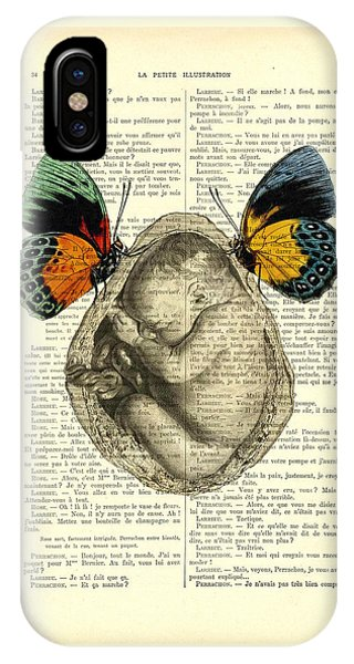 Baby Blue iPhone Case - Baby Foetus And Butterflies by Madame Memento