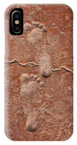 Baby Footsteps Etched In Stone IPhone Case