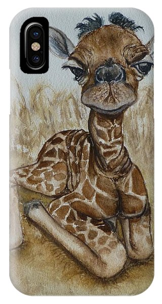 New Born Baby Giraffe IPhone Case