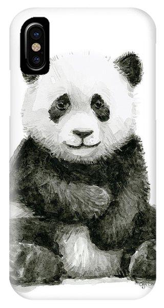 Jungle iPhone Case - Baby Panda Watercolor by Olga Shvartsur