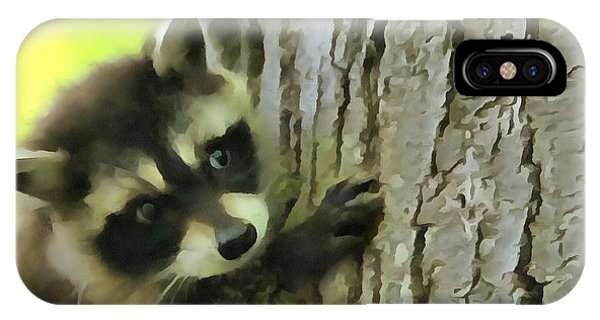 Baby Raccoon In A Tree IPhone Case