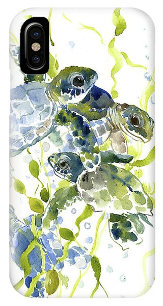 Baby Sea Turtles In The Sea IPhone Case