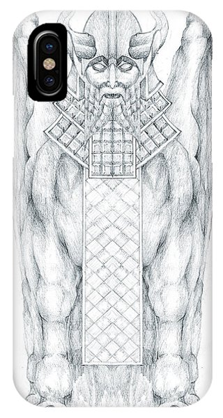 Babylonian Sphinx Lamassu IPhone Case