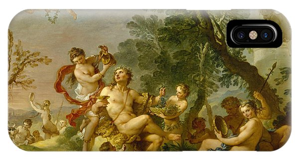 French Painter iPhone Case - Bacchanal by Charles-Joseph Natoire