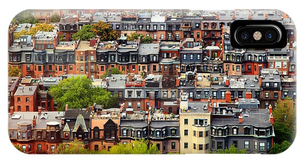 Rooftops iPhone Case - Back Bay by Rick Berk