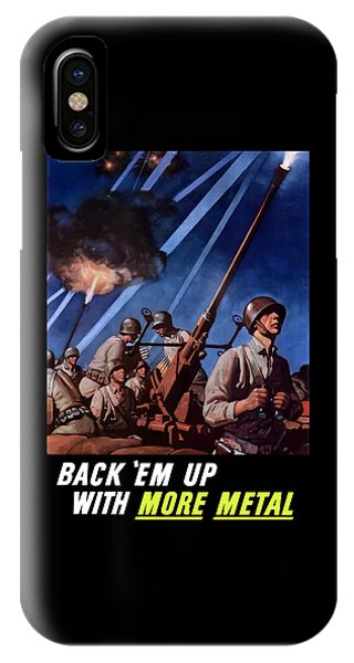 Metal iPhone Case - Back 'em Up With More Metal  by War Is Hell Store