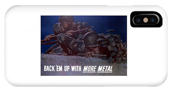 World War Two iPhone Case - Back 'em Up -- Ww2 by War Is Hell Store