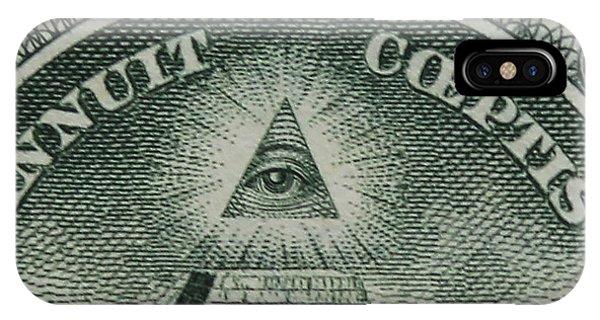 Back Of 1 Dollar Bill IPhone Case