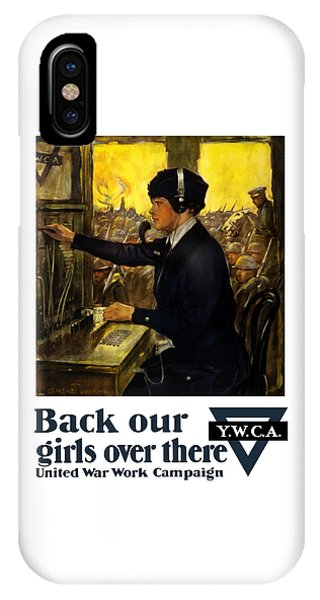 Wwi iPhone Case - Back Our Girls Over There by War Is Hell Store