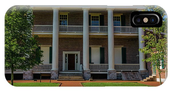 IPhone Case featuring the photograph Back Porch - The Hermitage by James L Bartlett