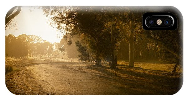 IPhone Case featuring the photograph Back Road Morning by Ray Warren