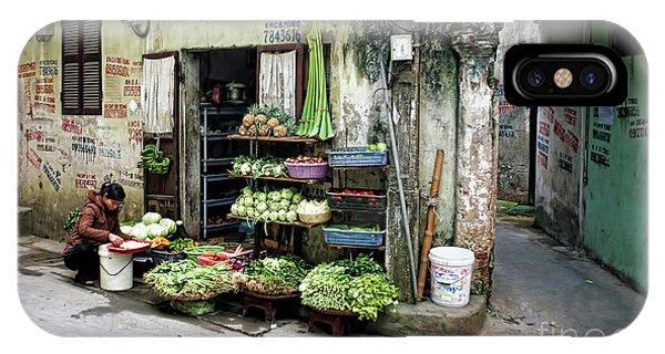 Back Street Veggies Store I IPhone Case