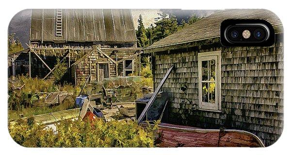 Back Yard, Stonington, Maine Phone Case by Dave Higgins