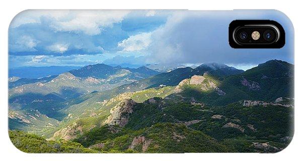 Backbone Trail Santa Monica Mountains IPhone Case