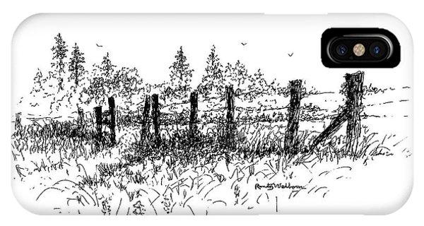 Backlit Fence IPhone Case
