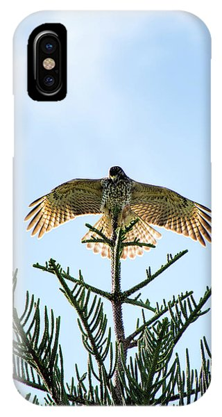 Backlit Landing Hawk IPhone Case