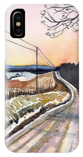 Backlit Roads IPhone Case