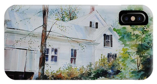 New England Barn iPhone Case - Backside Inn  by P Anthony Visco