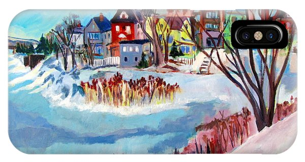 Backside Of Schenectady Stockade In February IPhone Case