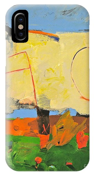 IPhone Case featuring the painting Backyard-4-garden-m- by Cliff Spohn