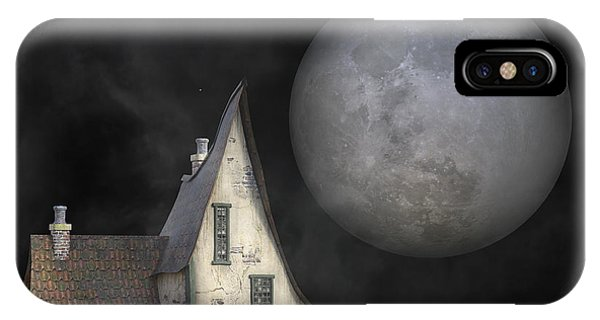 Moon iPhone Case - Backyard Moon Super Realistic  by Betsy Knapp