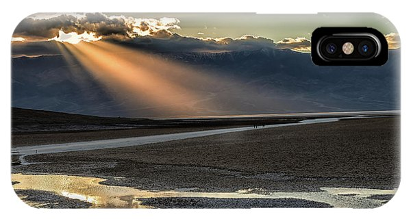 IPhone Case featuring the photograph Bad Water Basin Death Valley National Park by Michael Rogers